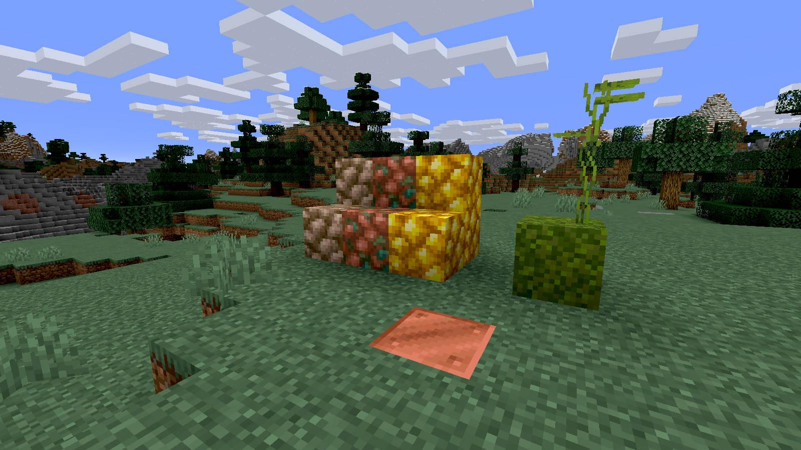 minecraft snapshot tekstury rudy